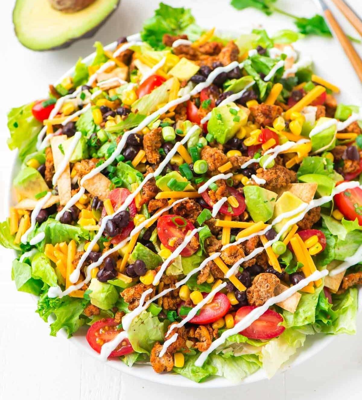 Vegan Taco Bowl Getfitqueen.com