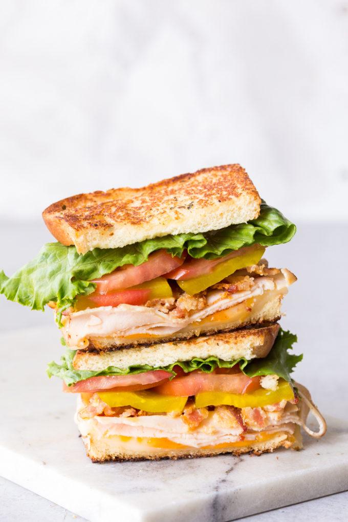 The Best Keto Club Sandwich